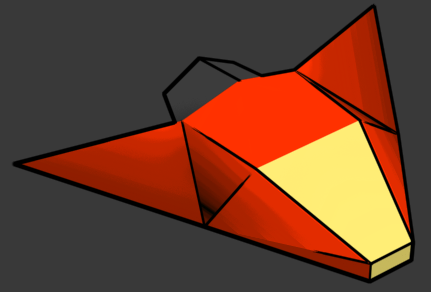 Low-poly-space-fighter