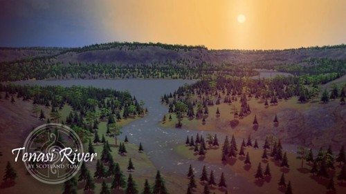 A screenshot of the Tenasi River map by Scotland Tom.