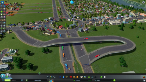 Low traffic on the fly-over, but the roundabout isn't jammed anymore.